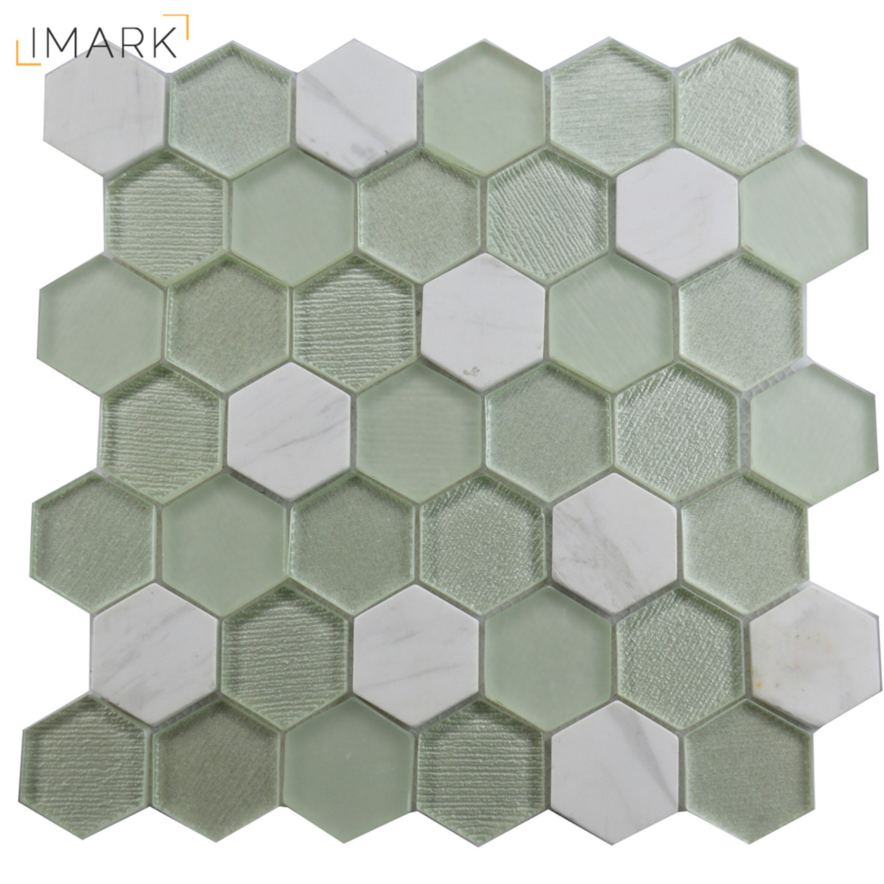 Green hexagon volakas marble mosaic tile glass kitchen backsplash green hexagon volakas marble mosaic tile glass kitchen backsplash dailygadgetfo Image collections