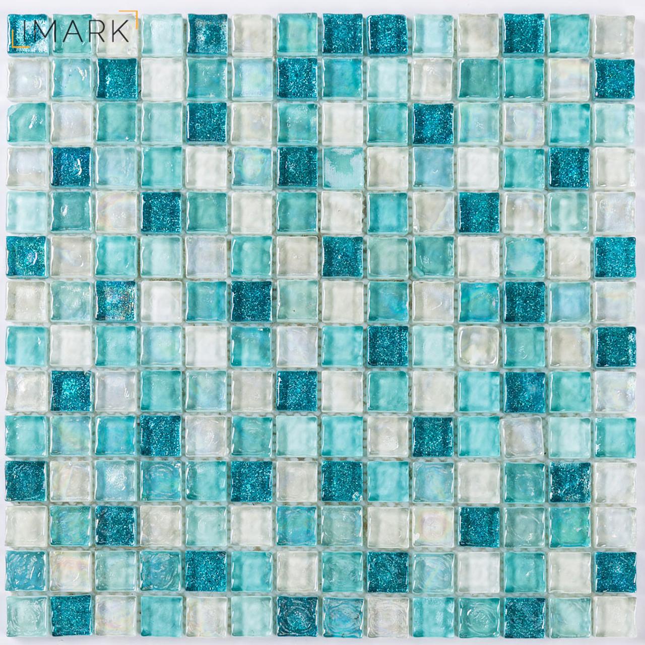 Iridescent Glass Pool Tile