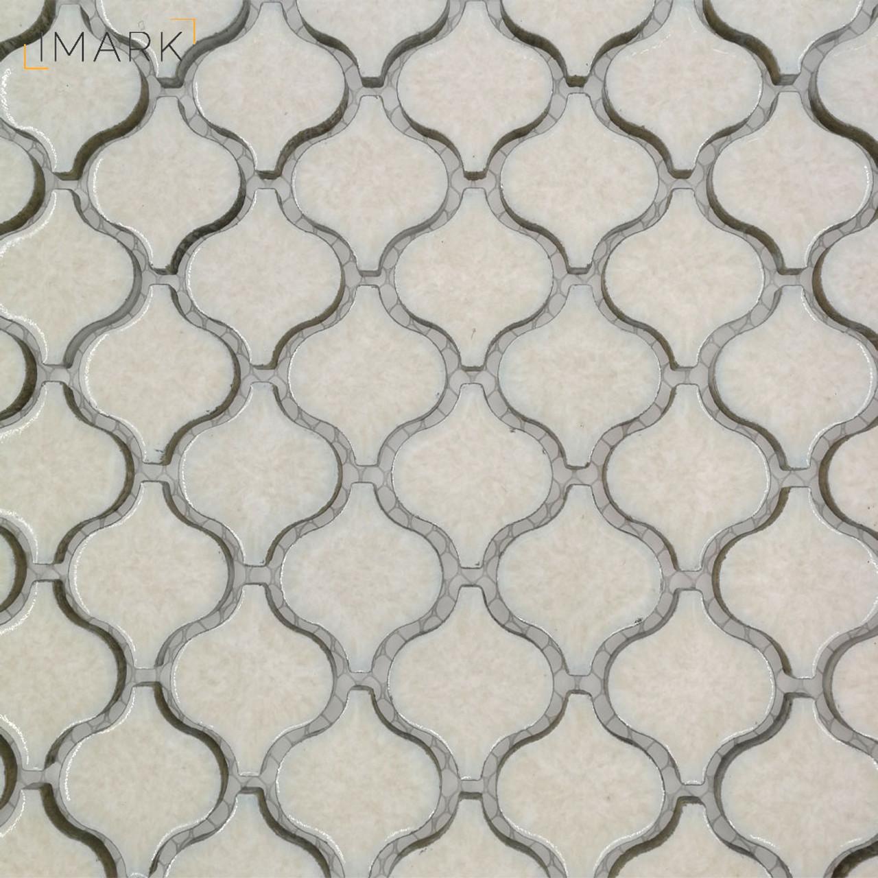 Lantern Glossy White Porcelain Ceramic Mosaic Tile For Backsplash ...