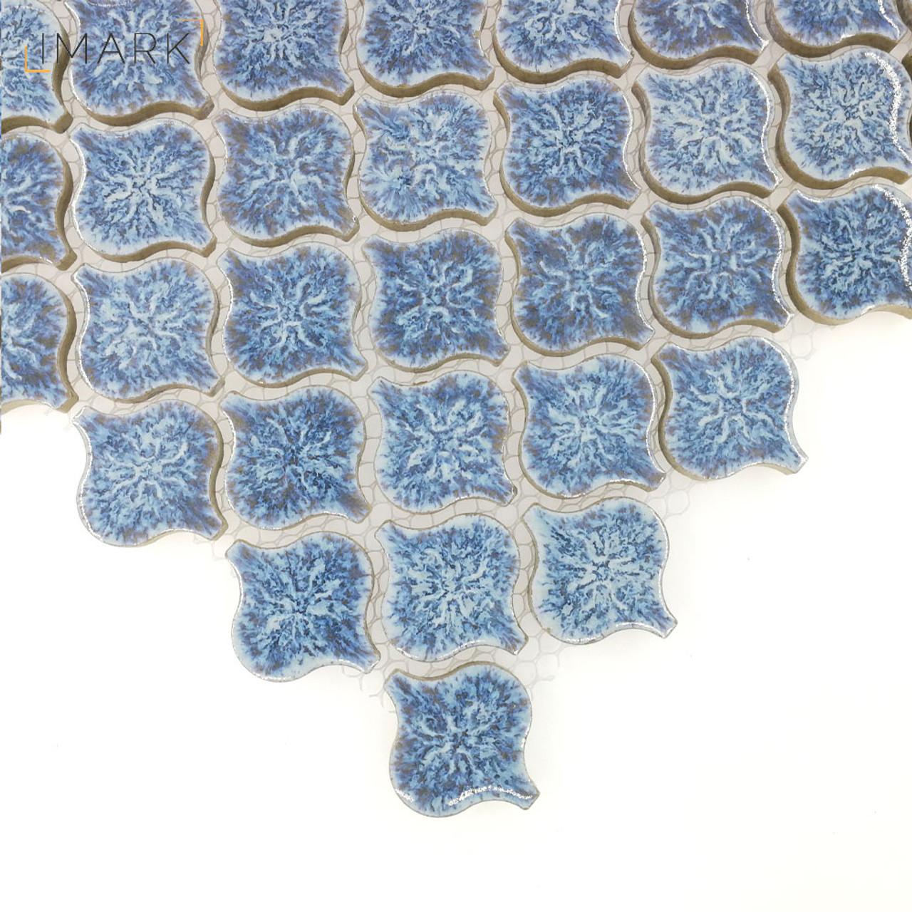 Lantern Mini Cobalt Blue Ceramic Mosaic Tile For Backsplash Tile ...