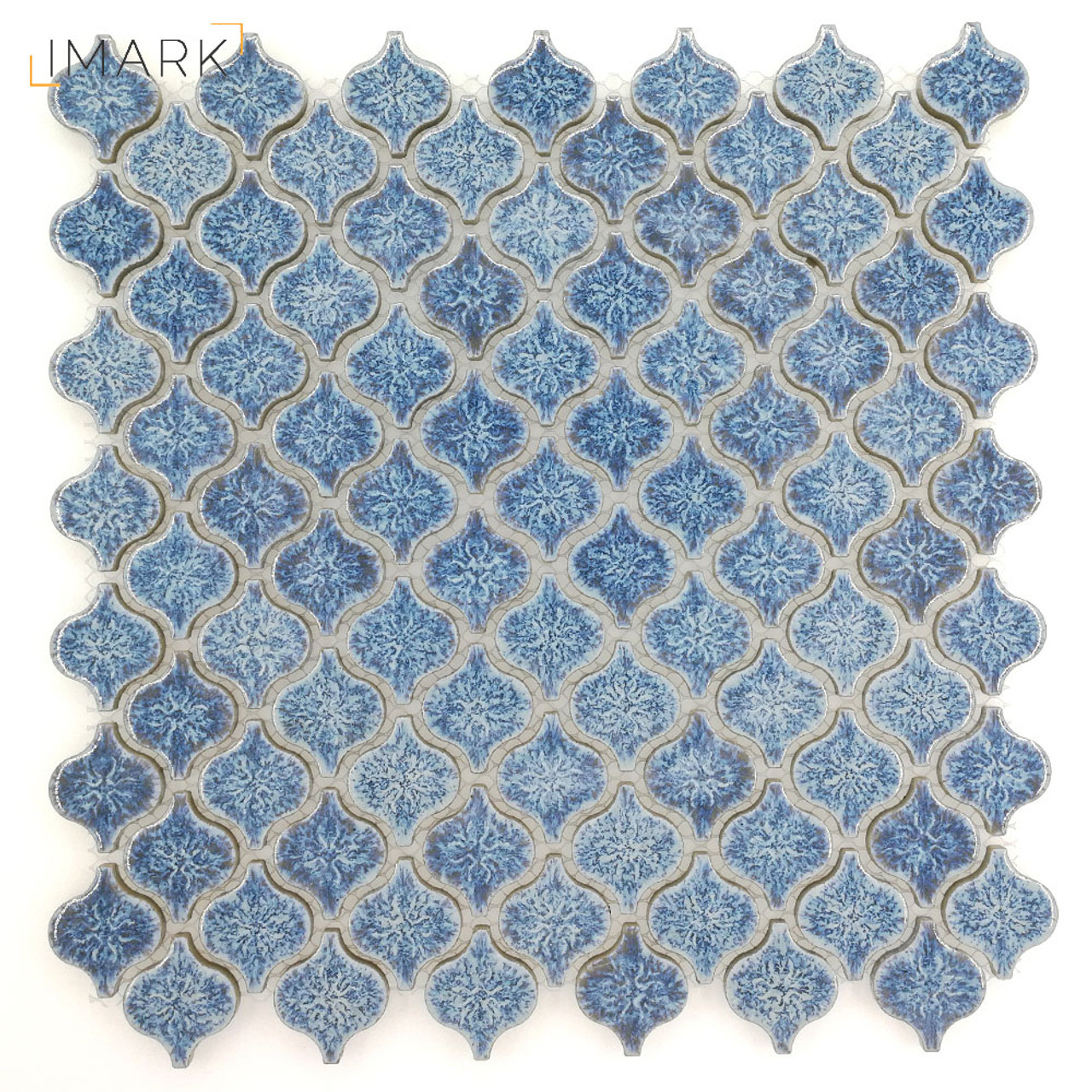 Lantern Mini Cobalt Blue Ceramic Mosaic Tile For Backsplash Tile ...