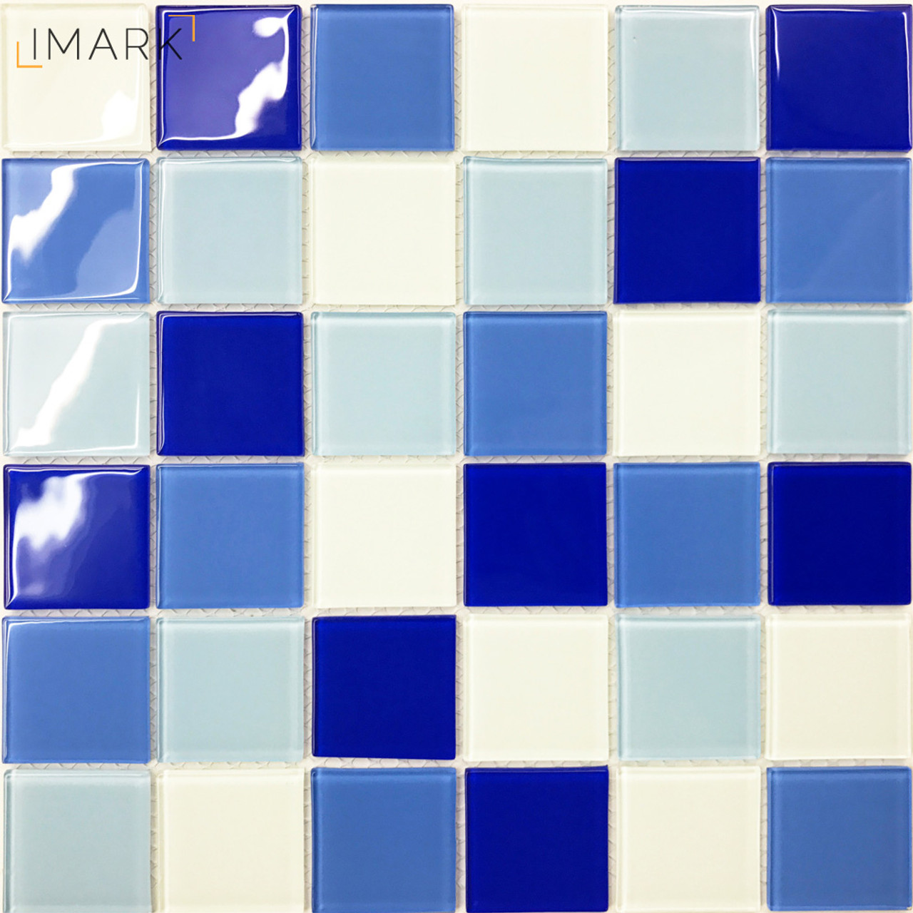 48mm Blue & White Crystal Glass Mosaic Tile From China Mosaic Tile ...