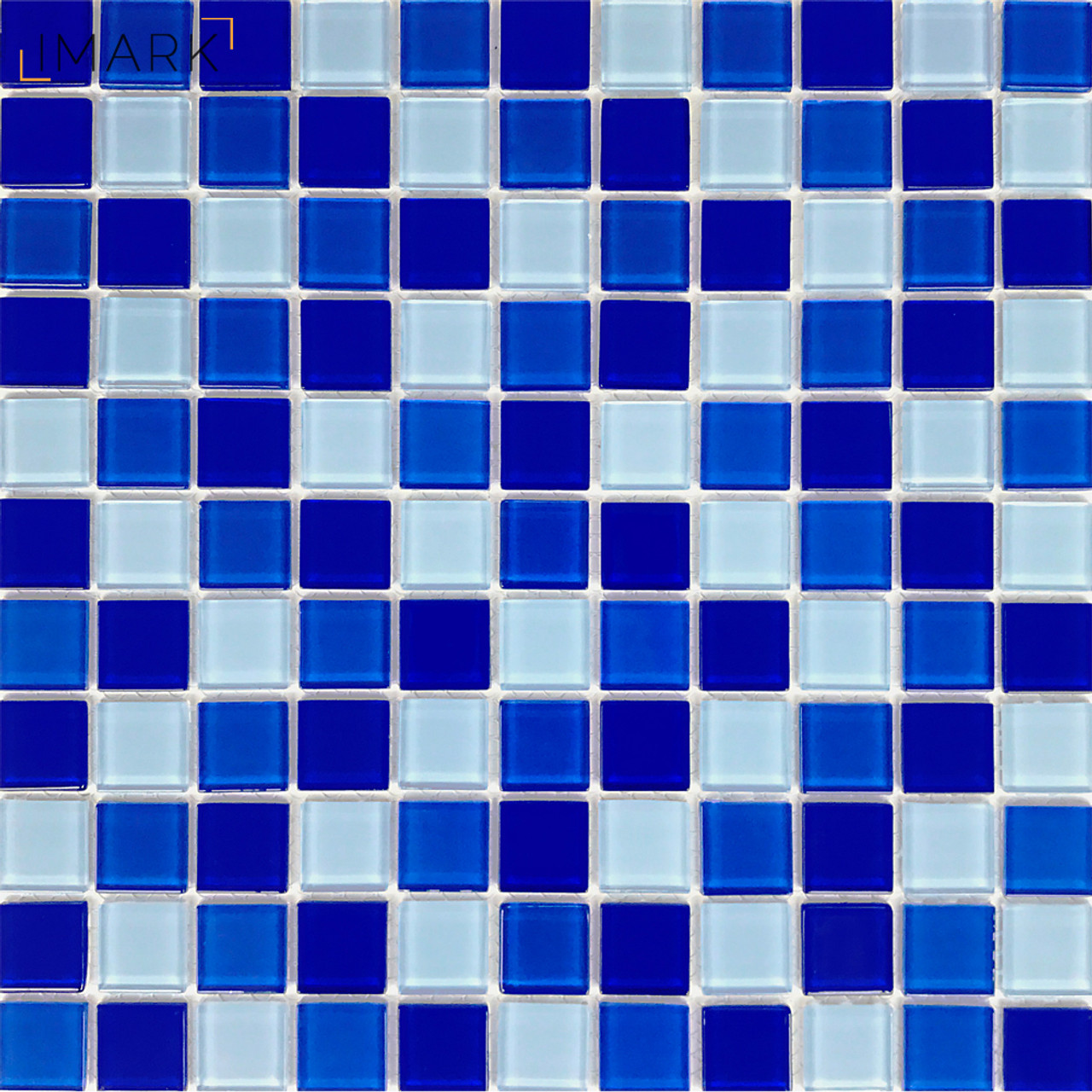Cobalt Blue Glass Mosaic Tile Backsplash For Kitchen Wall Stickers