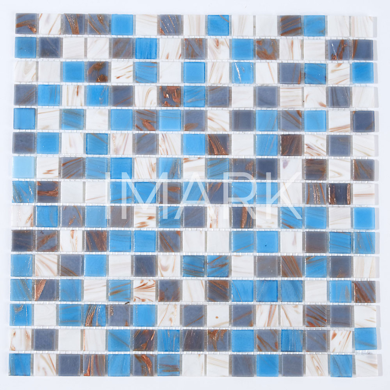 Aqua Blue Mix Glass Mosaic Tile For Swimming Pool & Spa From Direct ...
