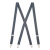 1 Inch Wide Clip Suspenders - Solid Colors (X-Back)