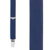 3/4 Inch Wide Thin Suspenders - NAVY BLUE (Satin)