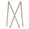 3/4 Inch Wide Thin Suspenders - TAN (Matte)