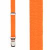 1/2 Inch Wide Skinny Suspenders - NEON ORANGE