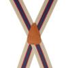 Khaki/Navy Striped Clip Suspenders - 1.5 Inch Wide