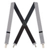 1.5 Inch Wide Novelty Pin Clip Suspenders