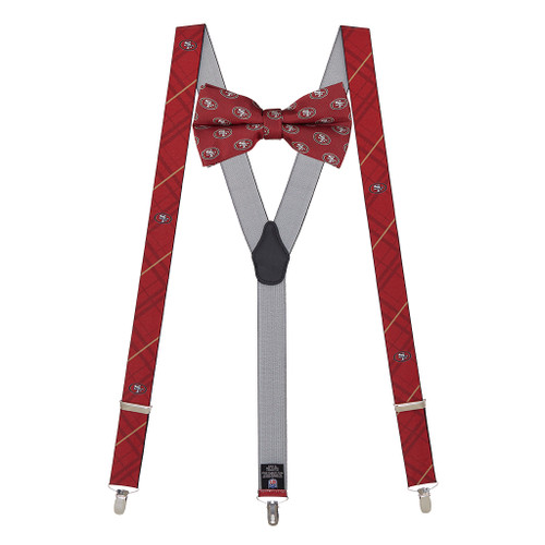 Bow Tie and Suspenders Set - San Francisco 49ers