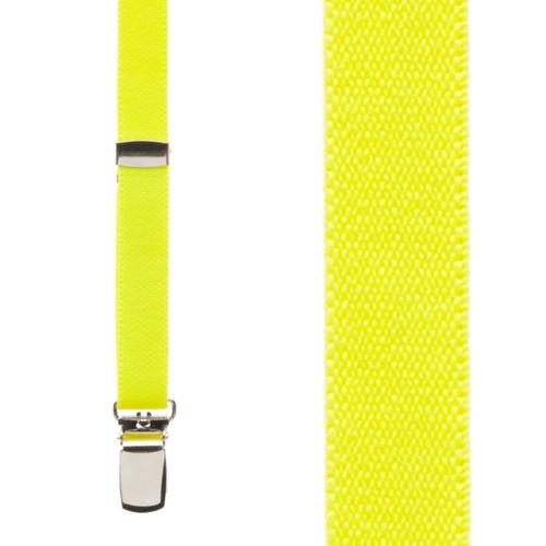 1/2 Inch Wide Skinny Suspenders - NEON YELLOW