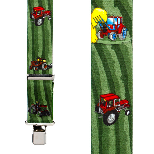 Red Tractors Suspenders