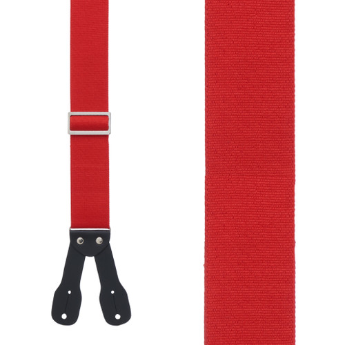 Logger Button Suspenders - 2 Inch Wide RED