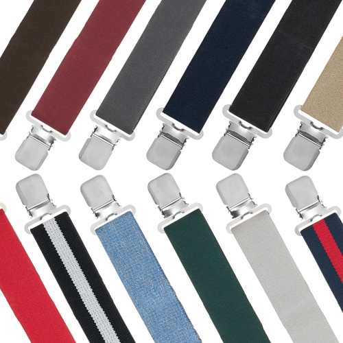 1.5 Inch Wide Construction Clip Suspenders