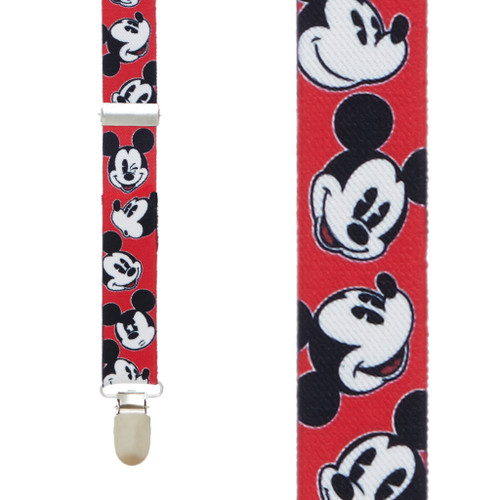 Mickey Mouse Suspenders - RED