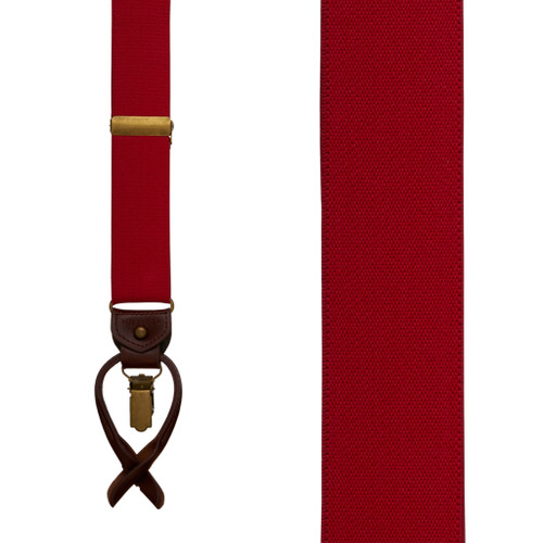 Tommy Hilfiger Red Convertible Suspenders