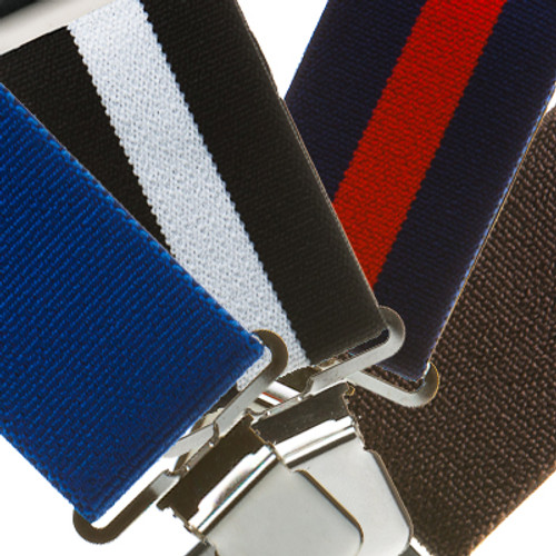 2 Inch Wide Clip Suspenders - Solids/Stripes