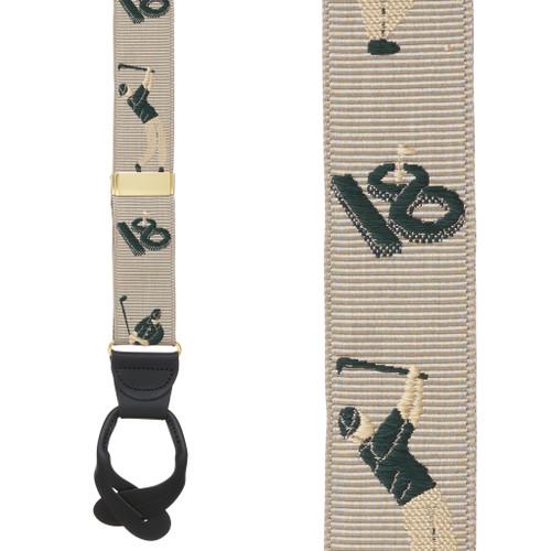 Golfer Grosgrain Suspenders - BUTTON