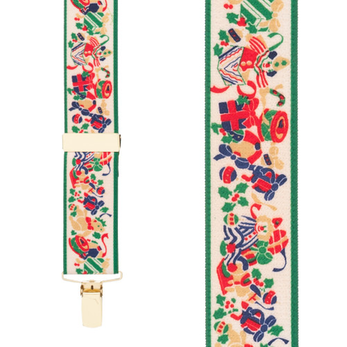Christmas Presents Suspenders - 1.5 Inch Wide Clip