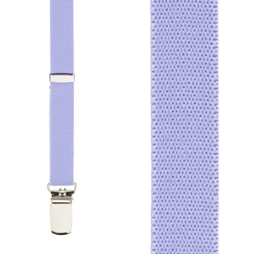 3/4 Inch Wide Thin Suspenders - LIGHT PURPLE