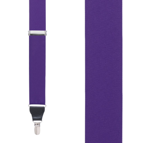 Dark Purple Grosgrain CLIP Suspenders