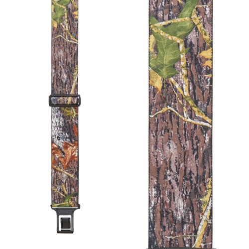Mossy Oak Camo Suspenders - Belt Clip