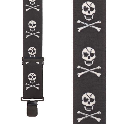 Skull and Crossbones Suspenders