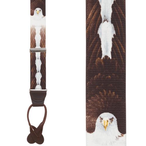 Eagle Suspenders - BUTTON