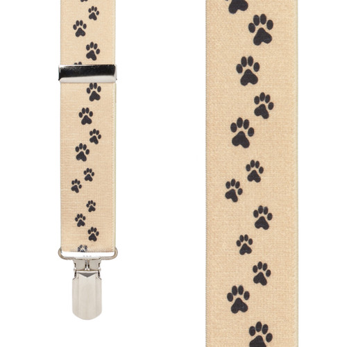 Puppy Toes 1.5-Inch Small Pin Clip Suspenders