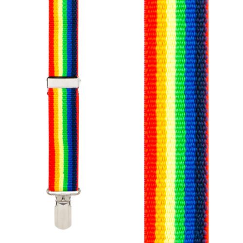Rainbow 1.5-Inch Small Pin Clip Suspenders