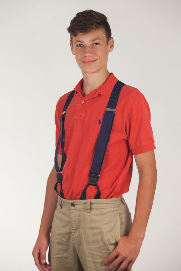 Jacquard Petite Diamonds Suspenders - Button