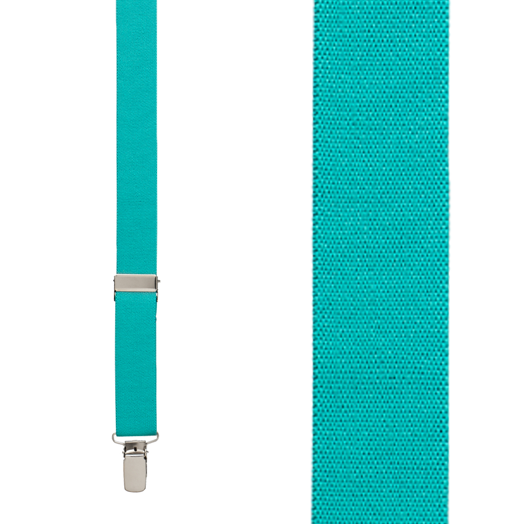 1 Inch Wide Clip Suspenders Solid Colors (X-Back) - Toddlers, Kids & Youth
