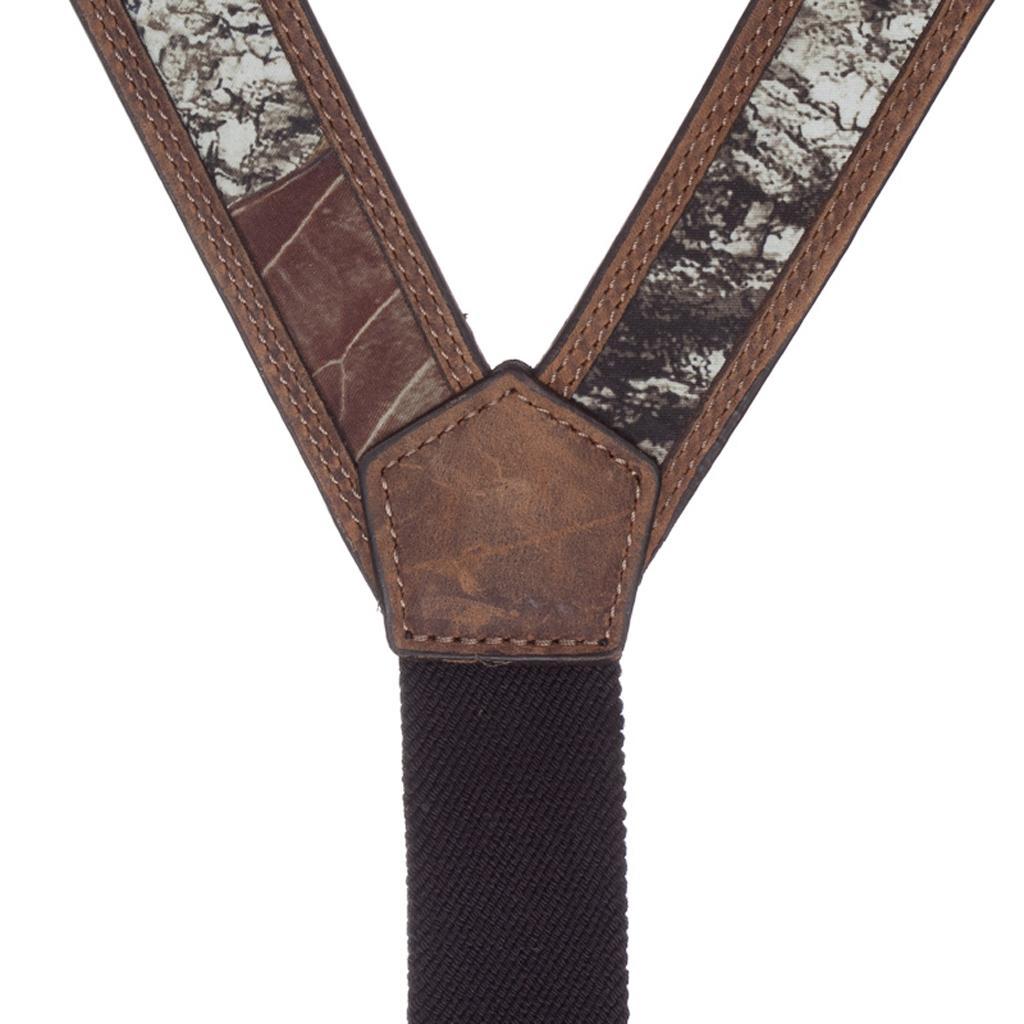 Mossy Oak Camo Western Leather Suspenders