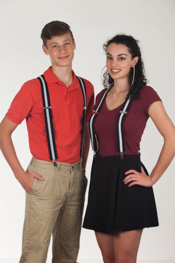 1.5 Inch Wide Clip Suspenders: Stripes, Dots, Checks