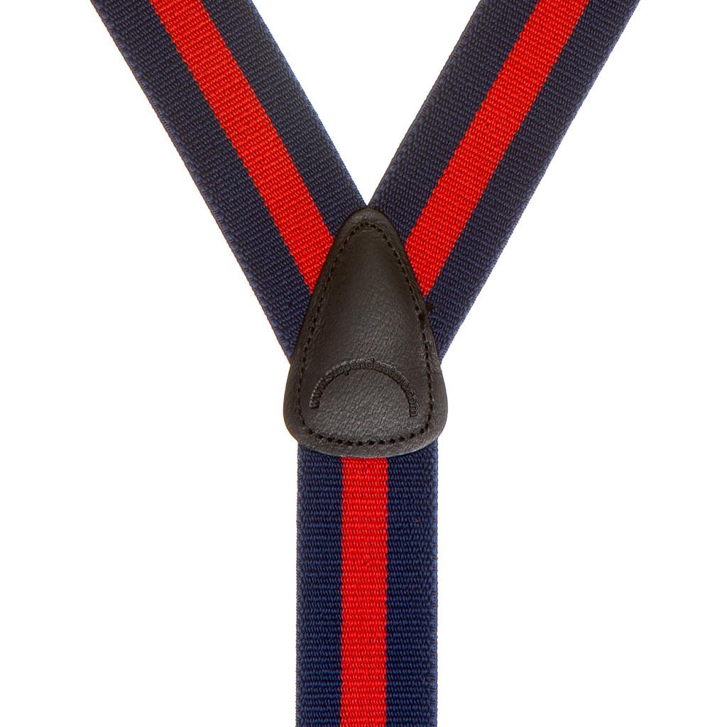 Checks 1.5-Inch Wide BUTTON Suspenders Dots Stripes