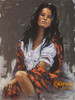 Penni Anne Cross 'Floral Shaw' Native American Canvas Art Signed & Numbered L/E