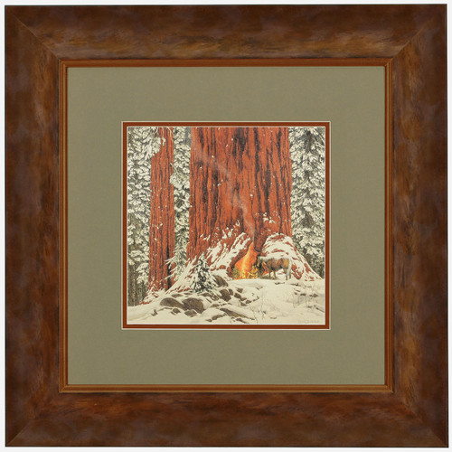 Bev Doolittle 'Christmas Day Give or Take a Week' Matted & Framed L/E