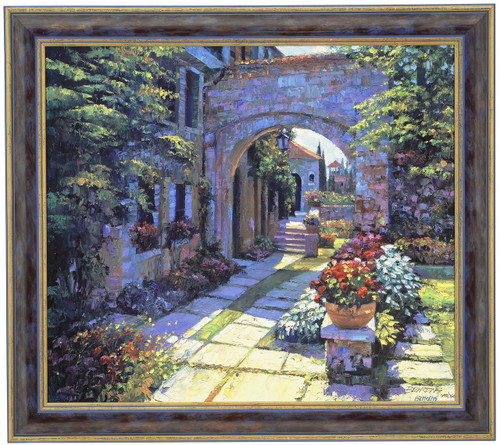 Howard Behrens 'Villa Morning' Canvas Framed L/E Signed & Numbered
