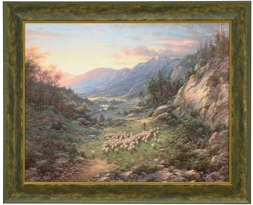 Larry Dyke 'The Good Shepherd' Sheep Canvas Framed L/E Signed & Numbered