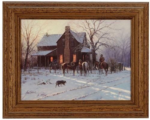 Martin Grelle 'By Early Light' Cowboy Canvas Framed L/E Signed & Numbered