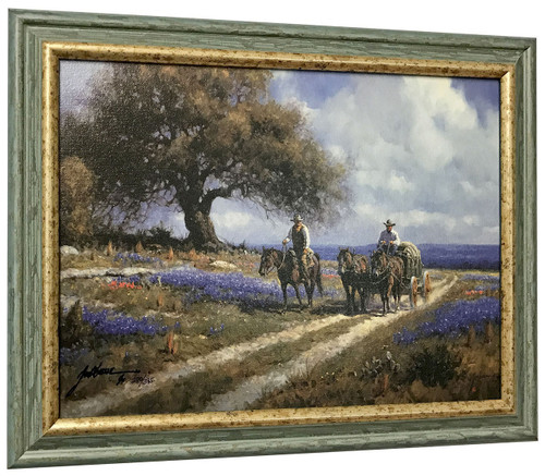Martin Grelle 'Sweet Smell of Spring' Cowboy Canvas Framed L/E Signed & Numbered