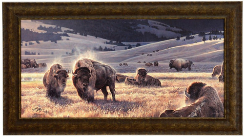 Nancy Glazier 'The Hidden Valley' Buffalo Canvas Framed L/E Signed & Numbered