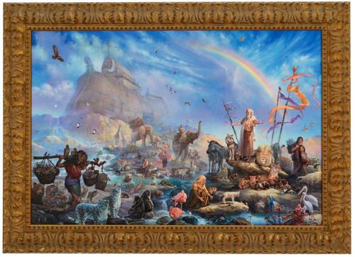 Tom duBois 'The Celebration' Noah's Ark Canvas Framed L/E Signed & Numbered