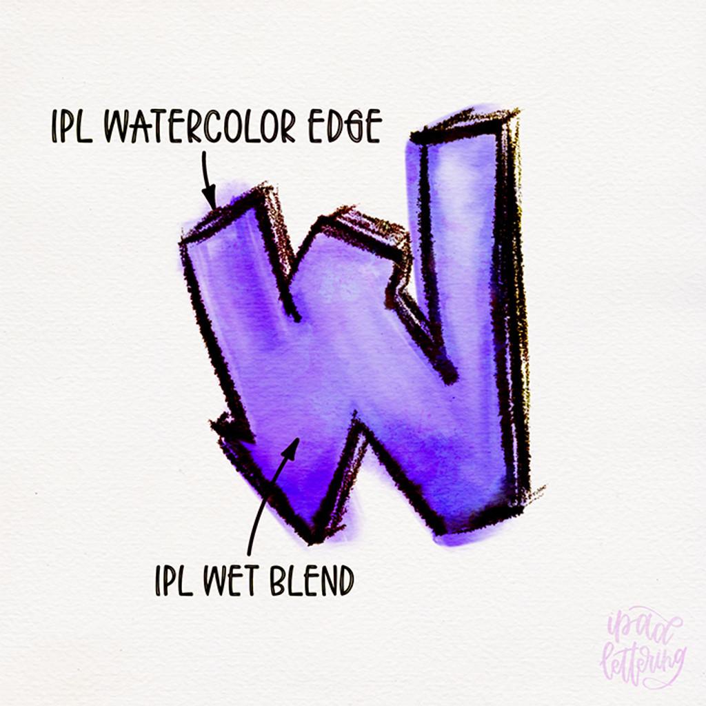 Watercolor Lettering Set