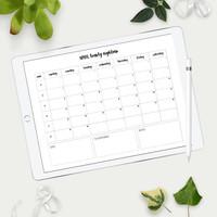 2018 Monthly Calendar Templates