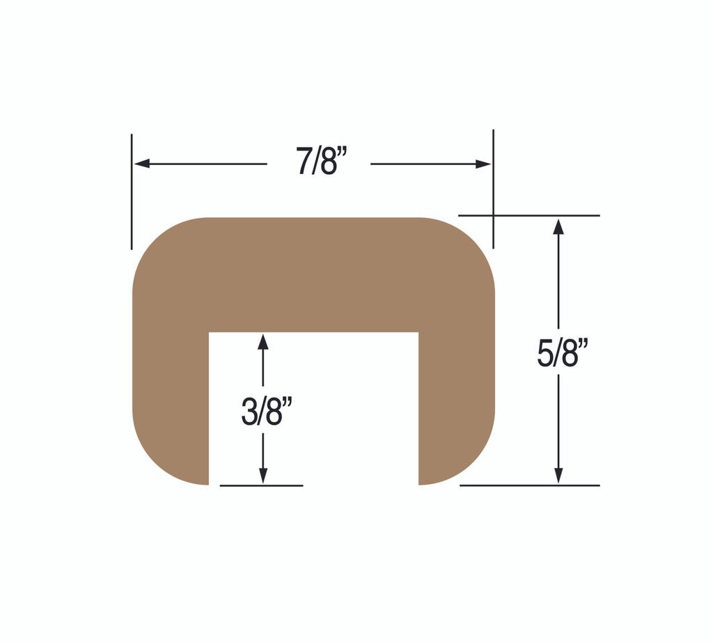 "Teak Cap Molding 5/8"" x 7/8"" Small"