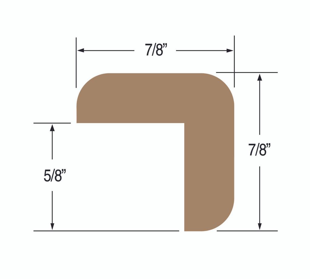 """Teak L-Molding Small 7/8' x 7/8"""""""