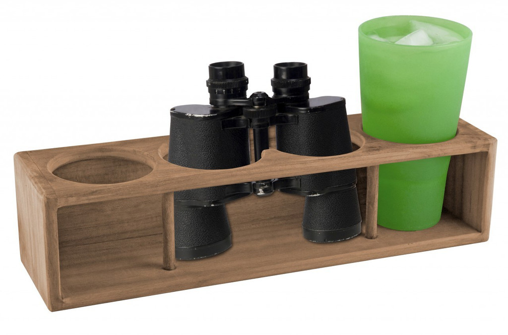 Teak Drink Rack; Four