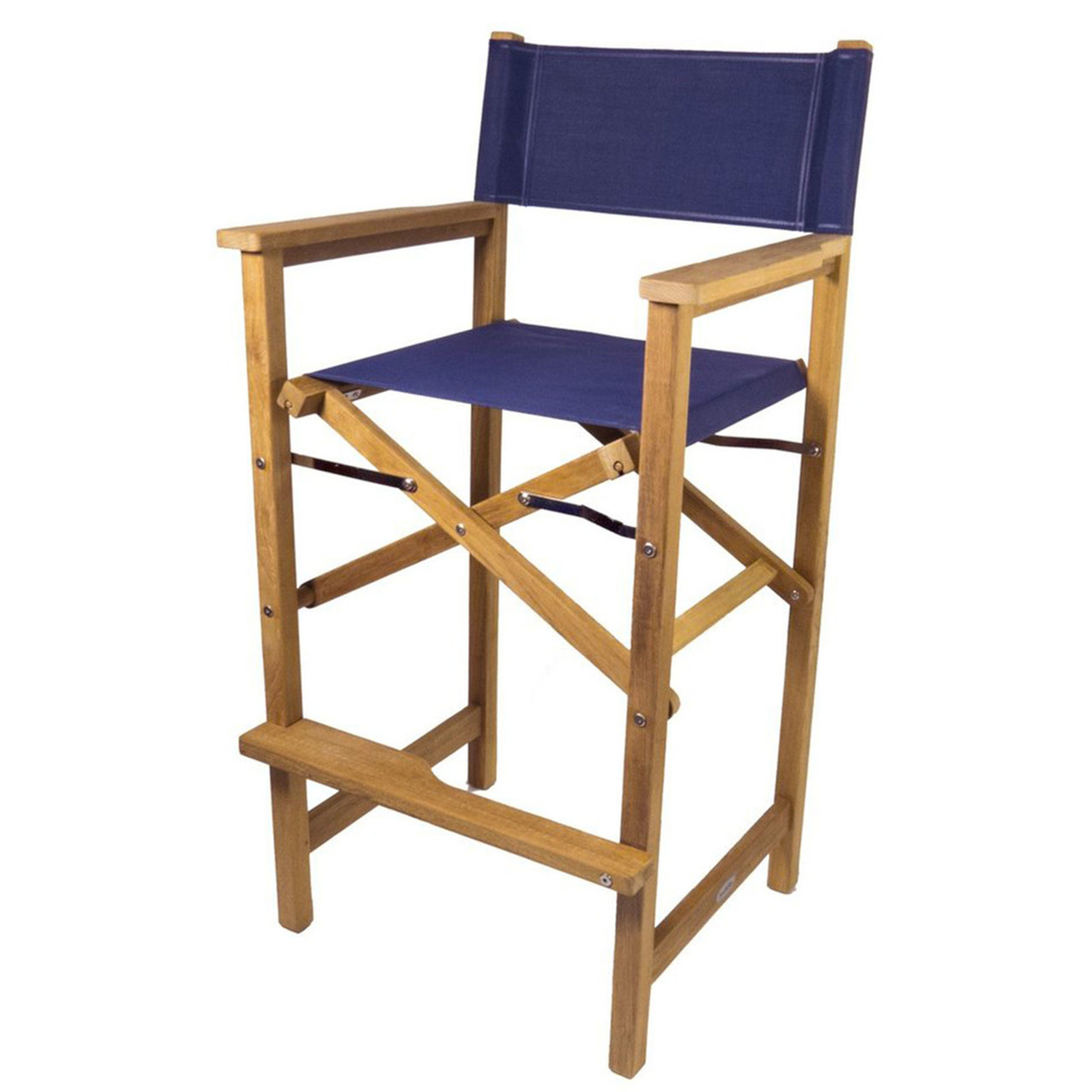 Teak Captainu0027s Chair (Available In Blue Or White DURASLING Fabric)